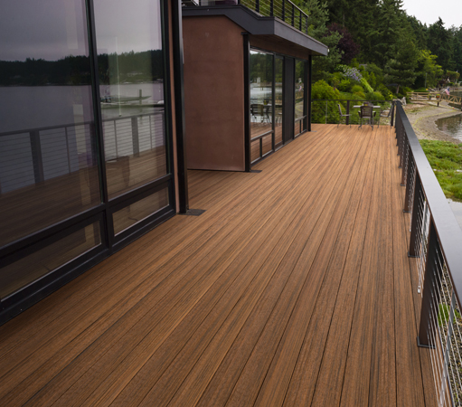 The latest technology in composite decking